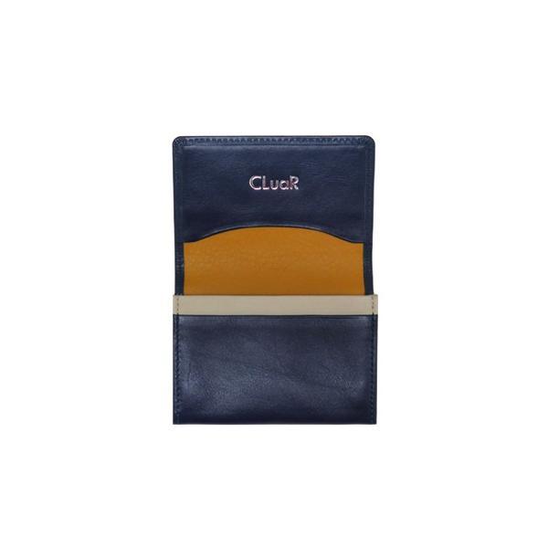 名刺入れ 名刺ケース ビジネス カードケース サブポケット W字マチ 大容量 30枚収納 本革 革 レザー メンズ レディース CLuaR シールアル 名入れ可|cluar|18