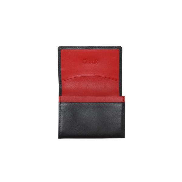名刺入れ 名刺ケース ビジネス カードケース サブポケット W字マチ 大容量 30枚収納 本革 革 レザー メンズ レディース CLuaR シールアル 名入れ可|cluar|26