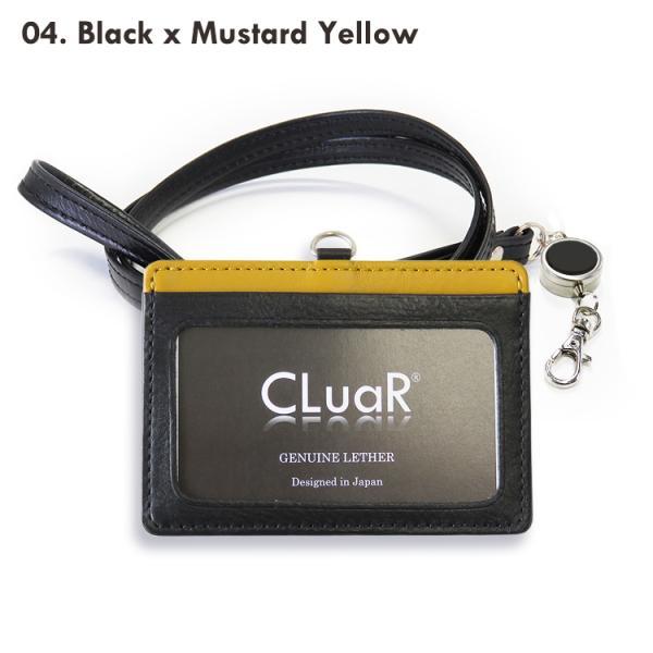 選べるリールカラー リール付きIDカードホルダー IDカードケース 横型 ネックストラップ ビジネスカラー 本革 革 レザー メンズ レディース CLuaR シールアル|cluar|14