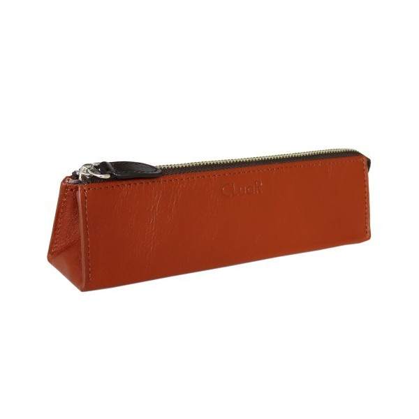 ペンケース ファスナータイプ 三角形 三角ペンケース 本革 革 レザー ビジネスカラー メンズ レディース CLuaR シールアル cluar 10