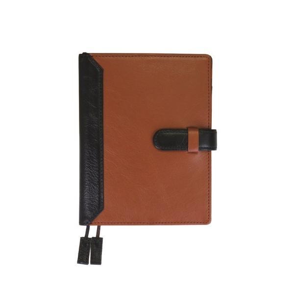 手帳カバー A6サイズ 文庫サイズ ベルトつき  本革 革 レザー ビジネスカラー メンズ レディース CLuaR シールアル|cluar|10