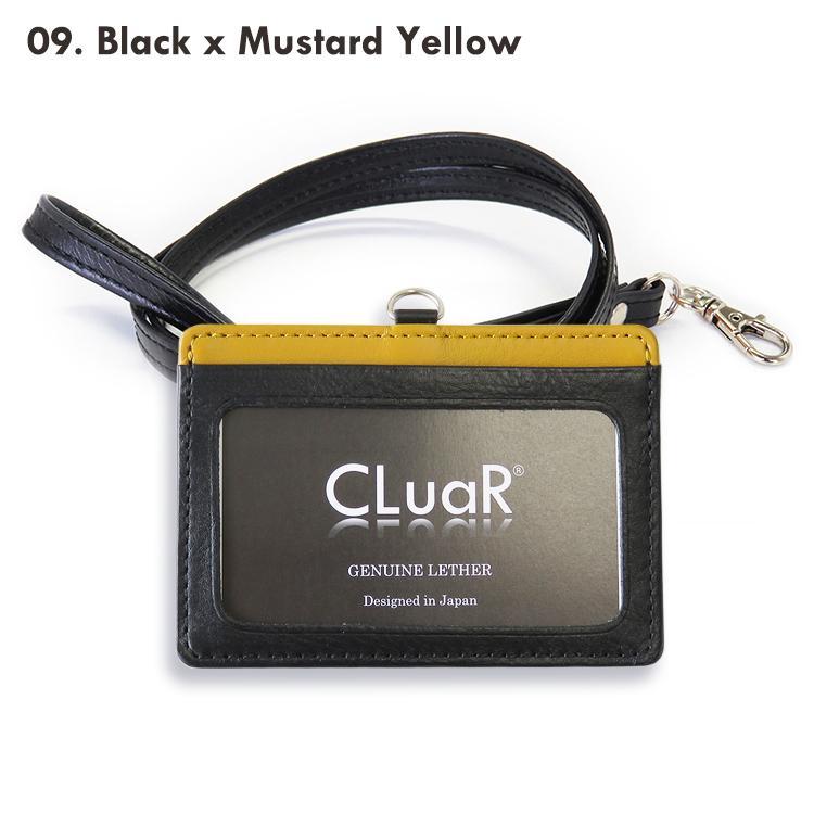 IDカードホルダー リールなし 革 IDカードケース 横型 両面 ネックストラップ 首掛け 本革 レザー メンズ レディース ビジネス 名入れ可 ラッピング可|cluar|28