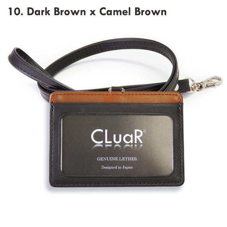 IDカードホルダー リールなし 革 IDカードケース 横型 両面 ネックストラップ 首掛け 本革 レザー メンズ レディース ビジネス 名入れ可 ラッピング可|cluar|29