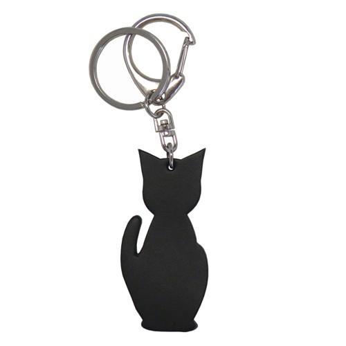 名入れ可 猫チャームキーホルダー キーリング バッグチャーム 本革 レザー 革 日本製 メンズ レディース 父の日ラッピング無料 2021 プレゼント cluar 17