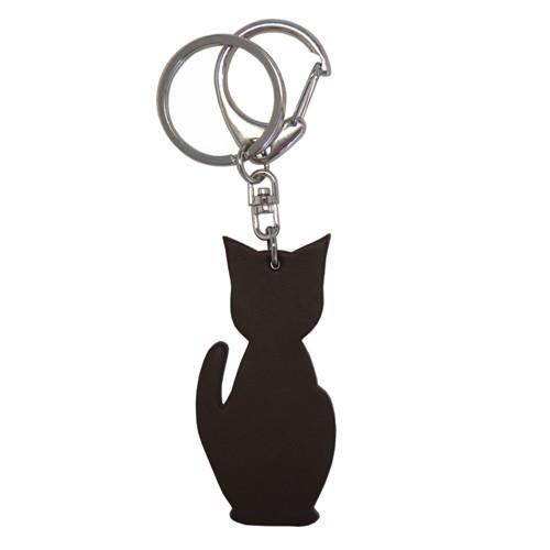 名入れ可 猫チャームキーホルダー キーリング バッグチャーム 本革 レザー 革 日本製 メンズ レディース 父の日ラッピング無料 2021 プレゼント cluar 18