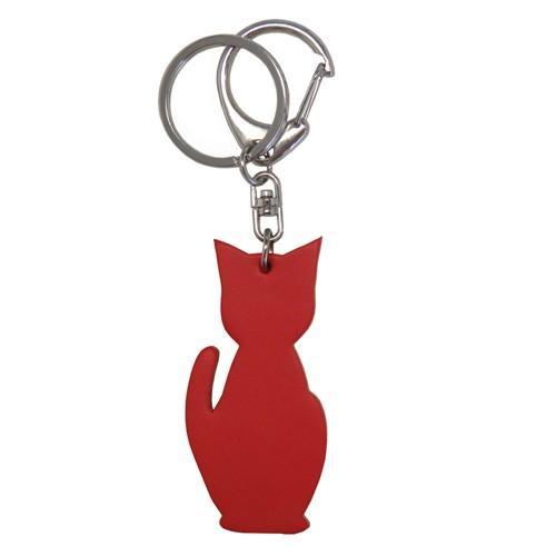 名入れ可 猫チャームキーホルダー キーリング バッグチャーム 本革 レザー 革 日本製 メンズ レディース 父の日ラッピング無料 2021 プレゼント cluar 20