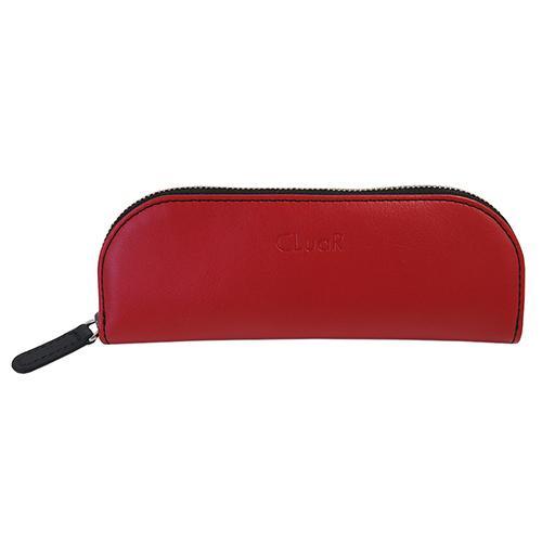 新商品 名入れ可 ペンケース ファスナー ジッパー メガネケース バイカラー 革 レザー ビジネス メンズ レディース ラッピング可 父の日ラッピング無料 cluar 10