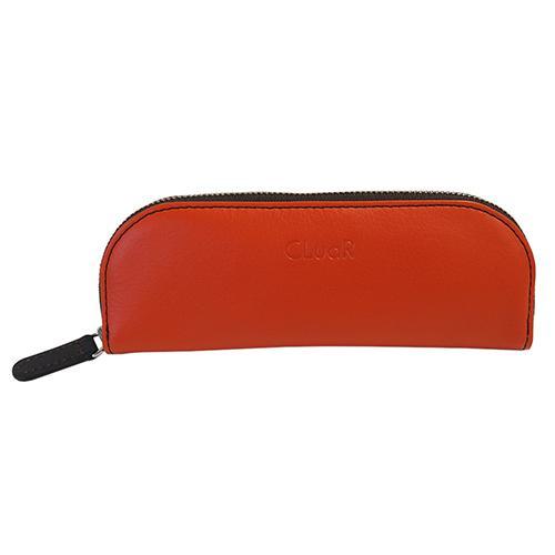 新商品 名入れ可 ペンケース ファスナー ジッパー メガネケース バイカラー 革 レザー ビジネス メンズ レディース ラッピング可 父の日ラッピング無料 cluar 11