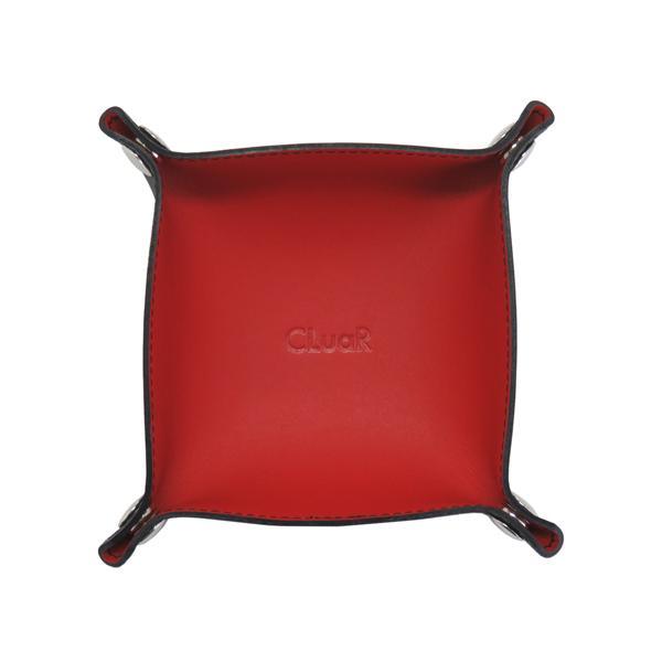 レザートレー Sサイズ 正方形 バイカラー 小物置き アクセサリー収納 マルチトレー 日本製 本革 革 メンズ レディース CLuaR シールアル|cluar|10