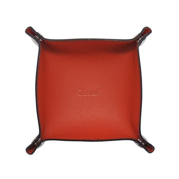 レザートレー Sサイズ 正方形 バイカラー 小物置き アクセサリー収納 マルチトレー 日本製 本革 革 メンズ レディース CLuaR シールアル|cluar|11