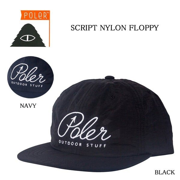 POLeR/ポーラー/SCRIPT NYLON FLOPPY/CAP/ナイロンキャップ/帽子/キャップ/715023/正規取扱店 width=