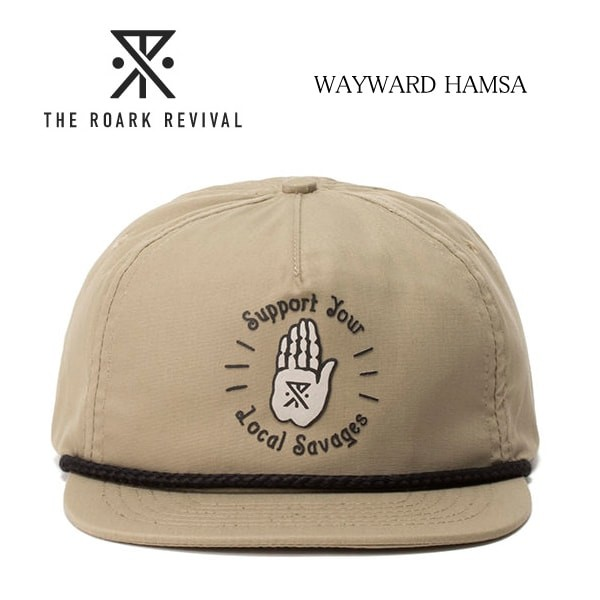 ROARK REVIVAL/ロアークリバイバル/ROARK/ロアーク/WAYWARD HAMSA/帽子/キャップ/RH239-KHA  width=