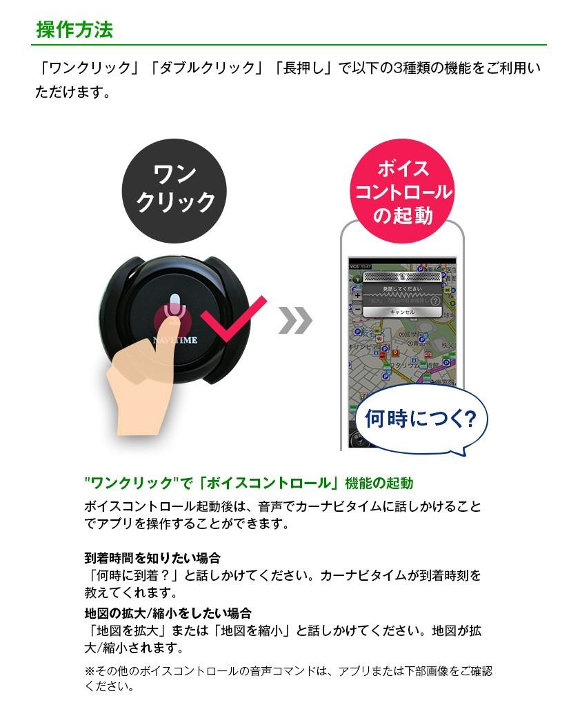 操作方法 ワンクリック→ボイスコントロールの起動