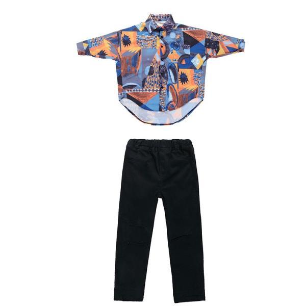 キッズ ダンス 衣装 HIPHOP チェック柄 Tシャツ  パンツ ヒップホップ ジャズ セットアップ 子供 ダンス衣装 ジュニア 演出服 大量注文対応 団体注文18xh554 co-tyiya 14