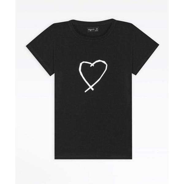 アニエスベー レディース Tシャツ 半袖 カットソー ロゴTシャツ コットン100% agnes b. ブラック ホワイト ネイビー 並行輸入品 ショッパー付き! cobalt-shop 18