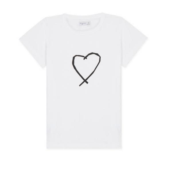 アニエスベー レディース Tシャツ 半袖 カットソー ロゴTシャツ コットン100% agnes b. ブラック ホワイト ネイビー 並行輸入品 ショッパー付き! cobalt-shop 19