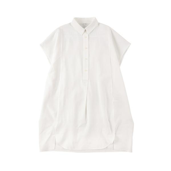 シャツ ワンピース チュニック ロングシャツ ロング丈 半袖 無地 オーバーサイズ 白シャツ 19aw メール便可 cocacoca 11