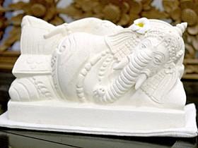 ガネーシャ(寝そべり) 石像