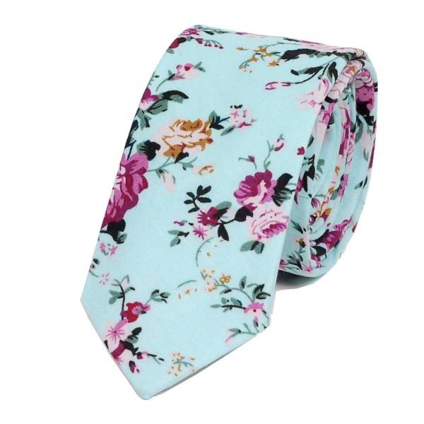 ナロータイ 花柄 ネクタイ スリム メンズ レディース スキニー フローラル コットンタイ 綿素材 マットな質感 15種 花見 バラ ローズ 大剣幅6cm|coconoco|20