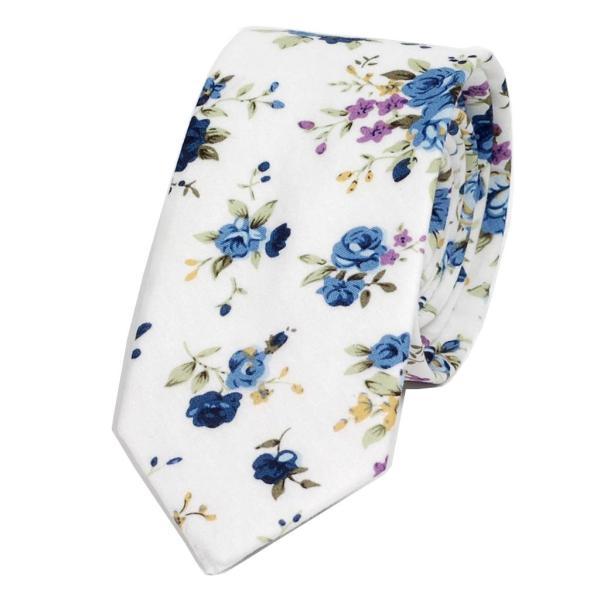ナロータイ 花柄 ネクタイ スリム メンズ レディース スキニー フローラル コットンタイ 綿素材 マットな質感 15種 花見 バラ ローズ 大剣幅6cm|coconoco|22