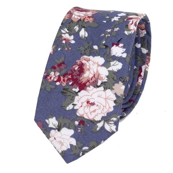 ナロータイ 花柄 ネクタイ スリム メンズ レディース スキニー フローラル コットンタイ 綿素材 マットな質感 15種 花見 バラ ローズ 大剣幅6cm|coconoco|25