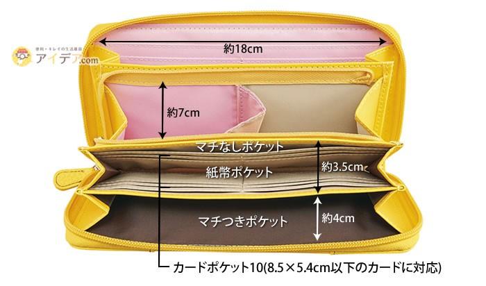 9cf01fcbab73 長財布 カードケース 大容量 一目瞭然 やりくり仕分け財布「メール便 ...