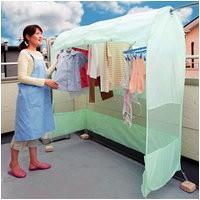 雨よけ洗濯物テント