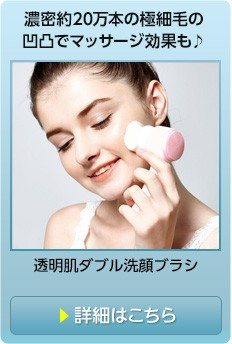 ダブル洗顔ブラシ