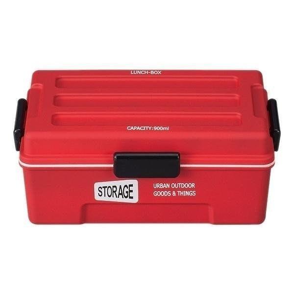 お弁当箱 1段 仕切付き STORAGE コンテナランチ 900ml ランチボックス ( レンジ対応 食洗機対応 弁当箱 男性 大容量 ドーム型 おしゃれ おすすめ ) colorfulbox 24