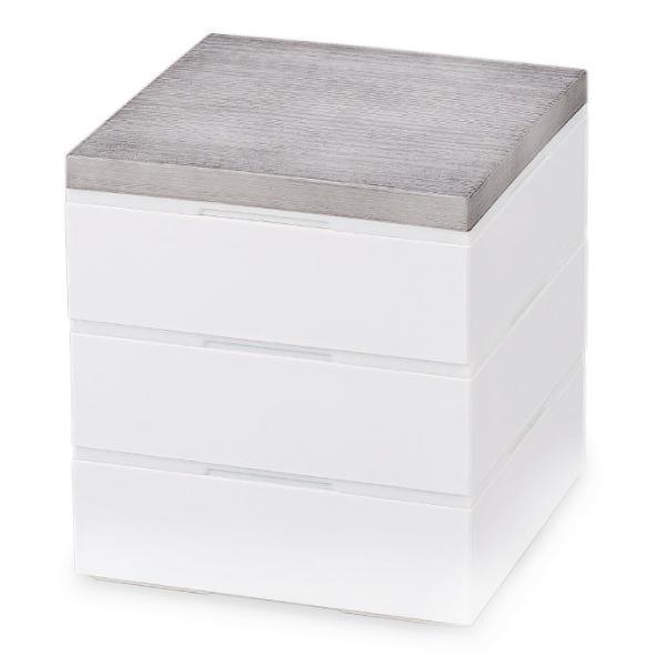 お弁当箱 3段 重箱 木目三段重 15cm 行楽弁当 ( お重 弁当箱 ランチボックス 3段重 ) colorfulbox 16