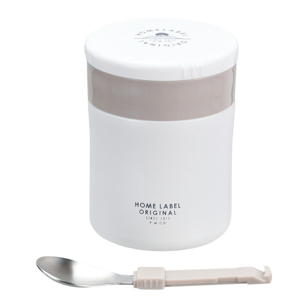 フードポット スープジャー 保温弁当箱 ホームレーベル フードマグ 400ml スプーン付 弁当箱 ( スープボトル スープポット ランチジャー 保温 保冷 )|colorfulbox|23