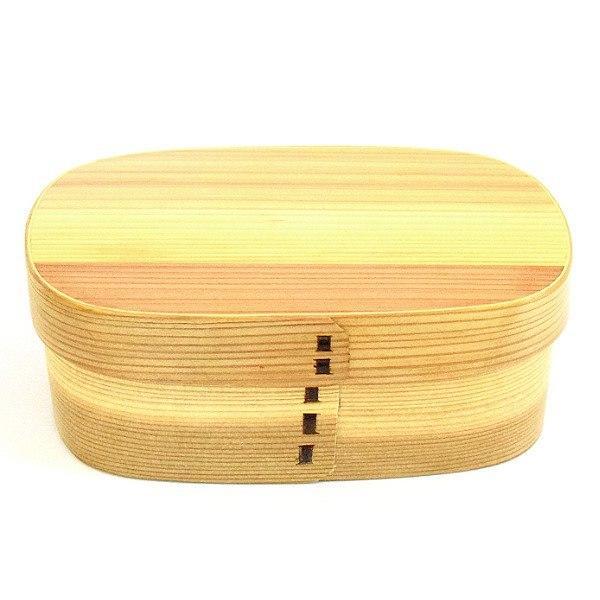 お弁当箱 曲げわっぱ 650ml 1段 くつわ型 ( 弁当箱 ランチボックス 木製 漆塗り ウレタン塗装 わっぱ弁当 ) colorfulbox 17