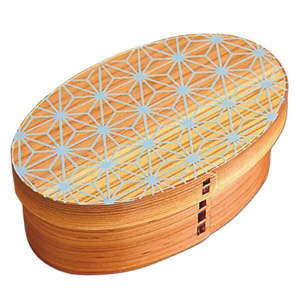 お弁当箱 曲げわっぱ 400ml 1段 小判 麻の葉 ウレタン塗装 ( 木製 ランチボックス 弁当箱 一段 わっぱ 和風 )|colorfulbox|19