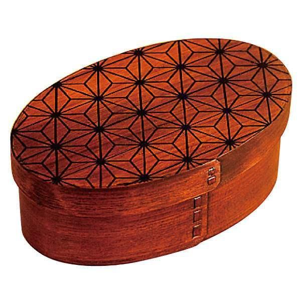 お弁当箱 曲げわっぱ 400ml 1段 小判 麻の葉 漆塗 ( 木製 ランチボックス 弁当箱 一段 わっぱ 和風 )|colorfulbox|21