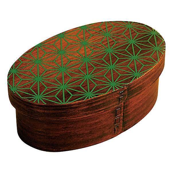 お弁当箱 曲げわっぱ 400ml 1段 小判 麻の葉 漆塗 ( 木製 ランチボックス 弁当箱 一段 わっぱ 和風 )|colorfulbox|19