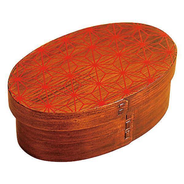 お弁当箱 曲げわっぱ 400ml 1段 小判 麻の葉 漆塗 ( 木製 ランチボックス 弁当箱 一段 わっぱ 和風 )|colorfulbox|22