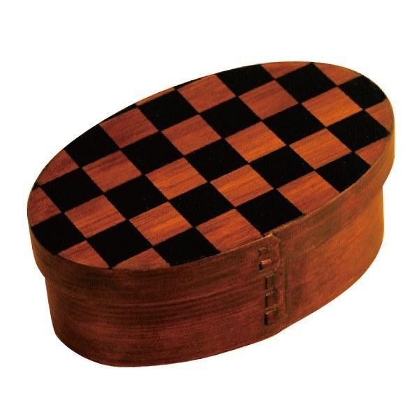 お弁当箱 曲げわっぱ 400ml 1段 市松 小判 漆塗 ( 木製 ランチボックス 弁当箱 一段 わっぱ 和風 ) colorfulbox 21