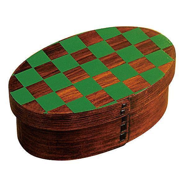 お弁当箱 曲げわっぱ 400ml 1段 市松 小判 漆塗 ( 木製 ランチボックス 弁当箱 一段 わっぱ 和風 ) colorfulbox 19