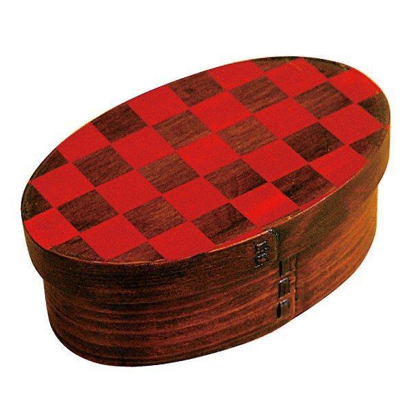 お弁当箱 曲げわっぱ 400ml 1段 市松 小判 漆塗 ( 木製 ランチボックス 弁当箱 一段 わっぱ 和風 ) colorfulbox 22