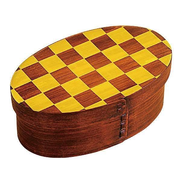 お弁当箱 曲げわっぱ 400ml 1段 市松 小判 漆塗 ( 木製 ランチボックス 弁当箱 一段 わっぱ 和風 ) colorfulbox 18