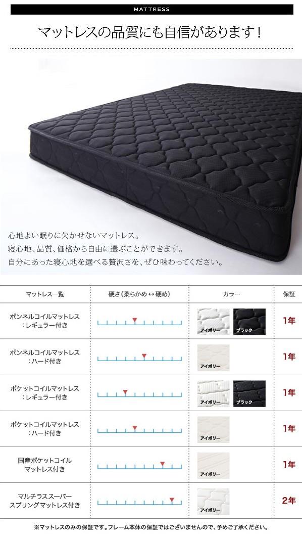 収納ベッド 収納付きベッド シングルベッド ベッド シングル マットレス付き 下収納 ベッド 画像10