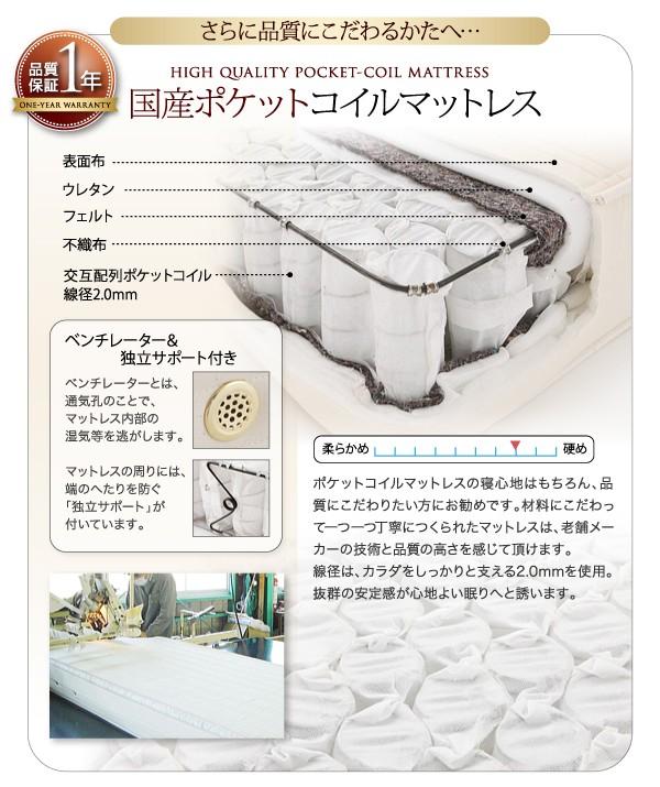 収納ベッド 収納付きベッド シングルベッド ベッド シングル マットレス付き 下収納 ベッド 画像16