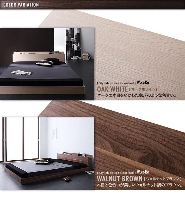 ダブルベッド ベッド ダブル マットレス付き フロアベッド ローベッド 画像22