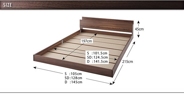 ダブルベッド ベッド ダブル マットレス付き フロアベッド ローベッド 画像23