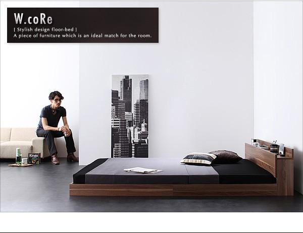 ダブルベッド ベッド ダブル マットレス付き フロアベッド ローベッド 画像8