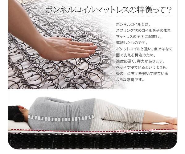 セミダブルベッド ベッド セミダブル マットレス付き 収納付きベッド 下収納 ベッド 画像14