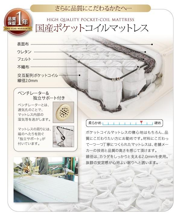 ダブルベッド ベッド ダブル マットレス付き 収納付きベッド 下収納 ベッド 画像15