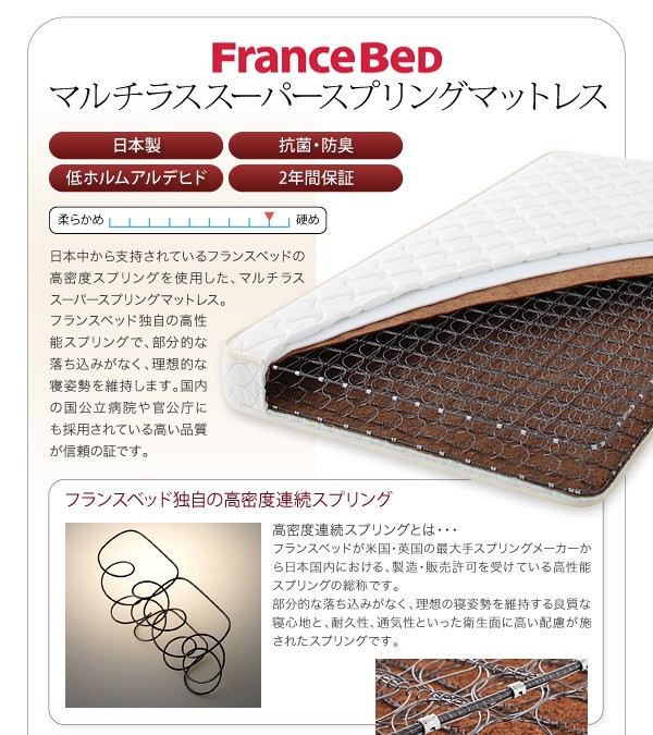 ダブルベッド ベッド ダブル マットレス付き 収納付きベッド 下収納 ベッド 画像16