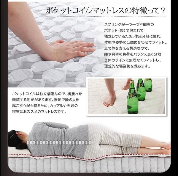 ダブルベッド ベッド ダブル 収納付きベッド 収納ベッド マットレス付き 下収納 ベッド 画像14