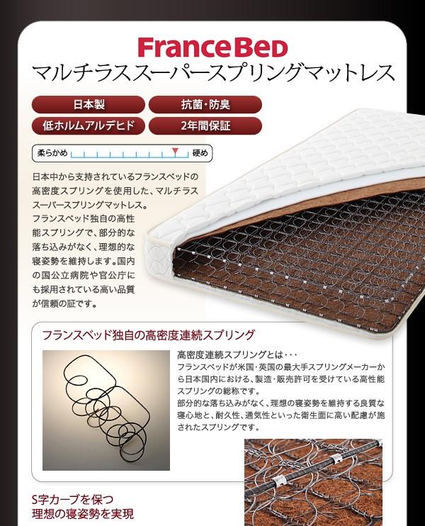 ダブルベッド ベッド ダブル 収納付きベッド 収納ベッド マットレス付き 下収納 ベッド 画像18